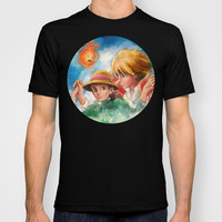 Sophie and Howl from Howl's Moving Castle Tra-Digital Painting T-shirt by Barrett Biggers
