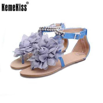 gladiator sandals for women bohemia beaded summer flower flat heels flip flops women's