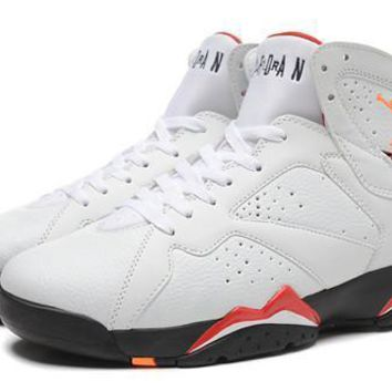 Cheap Air Jordan 7 Retro Cardinal Red Bronze White Black