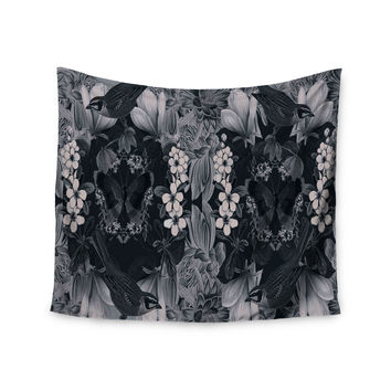 """Suzanne Carter """"Magnolia Cushion"""" Gray Wall Tapestry"""