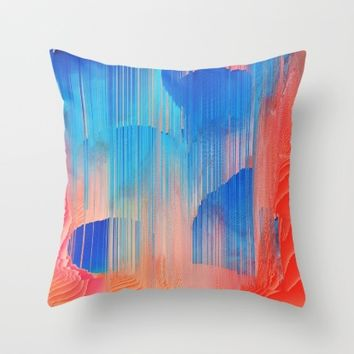 Hot n' Cold Throw Pillow by Ducky B