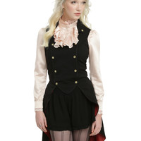 Disney Alice Through The Looking Glass Mad Hatter Military Vest