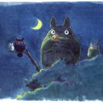 My Neighbor Totoro Silent Night Poster 11x17