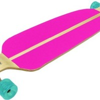 Maple With Pink Grip Tape Drop Down Complete Longboard Skateboard