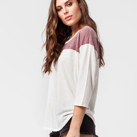 VOLCOM Lived In Sin Womens Raglan Tee | Knit Tops & Tees