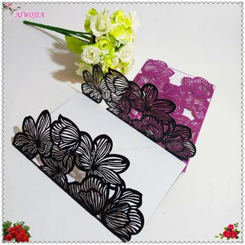 Hot 10Pcst 21 Colors Romantic Wedding Party Invitation Card Delicate Carved Pattern Wedding Supplies Wedding Favors And Gifts 6Z