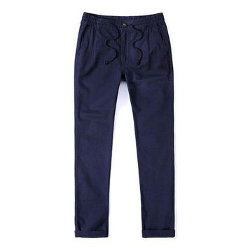 ONETOW mk Mens pants solid color gray blue drawstring trousers male cargo joggers pants