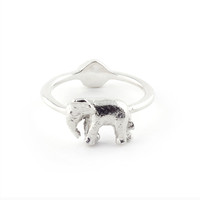 Bill Skinner Silver Elephant Ring