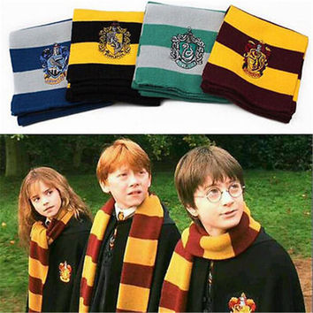 Harry Potter's Gryffindor, .Hufflepuff, Ravenclaw, and Slytherin House Colors Scarves.