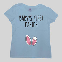 Easter Pregnancy Reveal Easter Announcement T Shirt New Baby Shirt Maternity Outfit Expecting Mom Pregnant T Shirt Ladies Tee - SA1035