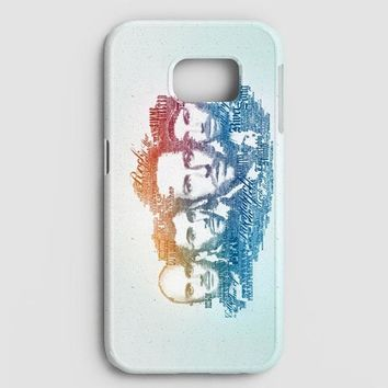 Coldplay Faces Lyrics Design Samsung Galaxy S8 Case | casescraft