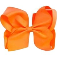 Grosgrain Boutique Hairbow, Light Orange