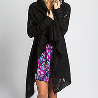 O'Neill Pipa Draped Cardigan - Black