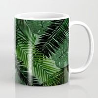 Green Foliage Mug by Vickn