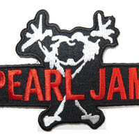 "PEARL JAM Stickman Cut Out Iron On Embroidered Patch 3.7""/9.5cm"
