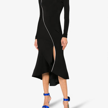 SLIT FITTED MIDI DRESS