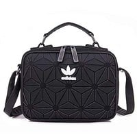 Adidas Fashion New Lingge Women Men Leisure Crossbody Bag Shoulder Bag  Black