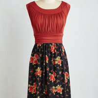 Mid-length Sleeveless A-line I Love Your Dress in Evening Roses by ModCloth