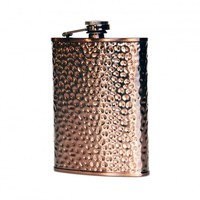 Verona Hammered Stainless Steel Liquor Flask