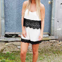 Throw Back Lace Romper