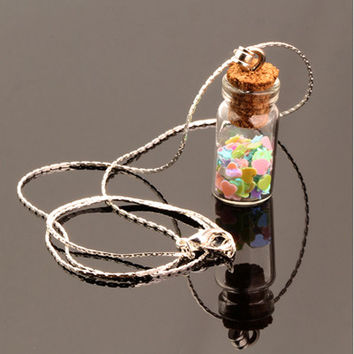 Wish-in-a-Bottle Charm Pendant / Necklace