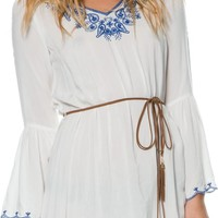 RACHEL EMBROIDERED TUNIC DRESS