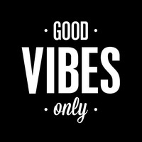 "Typography Print Poster Art ""Good Vibes Only"" Motivational Wall Art Decor Subway Art Inspirational Quote Typographic Design"