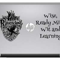 Ravenclaw Vinyl Decal, Harry Potter Laptop Decal, Wall Decal, Indoor Vinyl Decal,