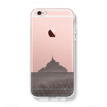 Mont Sanit Michel iPhone 6s Clear Case iPhone 6 plus Cover iPhone 5s 5 5c Transparent Case Samsung Galaxy S6 Edge S6 Case
