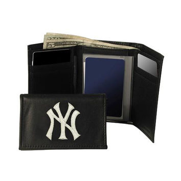 New York Yankees MLB Embroidered Trifold Wallet