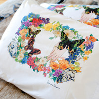 Flora Halo pillow case