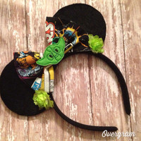 Character and floral embellished mouse ears headband
