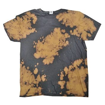 Bleach Out Tie Dye Shirt Colorful Gray T-Shirt