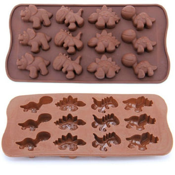 Perfect Dinosaur Baking Silicone Mold Chocolate Cake Cookie Muffin Candy Jelly = 5617230785
