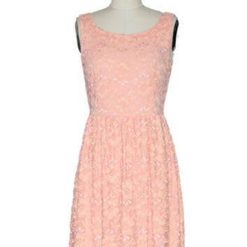Flowers From Me to You Dress in Peach