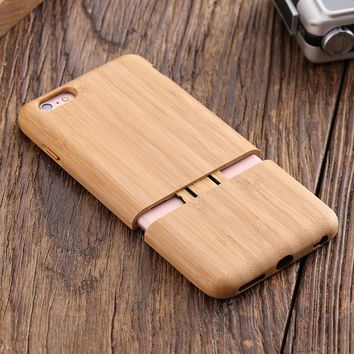 KISSCASE Real Wood Case For iPhone 7 6 6s Plus Natural Hard Shell Cover Cases For iPhone 6s 7 Plus Luxury Back Phone Capa Fundas