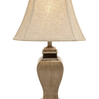 Benzara Classy And Creative Polystone Table Lamp Decor