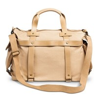 Women's Canvas Weekender Handbag - Tan