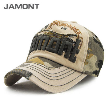 Vintage Camouflage Baseball Cap Snap back Caps Hats for Men and Women