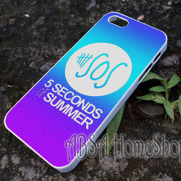rainbow logo 5 second of summer band case for iPhone 4/4s/5/5s/5c/6/6+ case,iPod Touch 5th Case,Samsung Galaxy s3/s4/s5/s6Case, Sony Xperia Z3/4 case, LG G2/G3 case, HTC One M7/M8 case galaxy