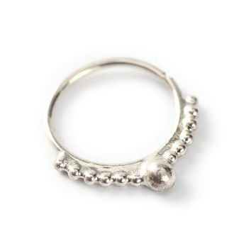 SEPTUM JEWELRY - silver nose ring - nose jewelry - Indian style silver nose ring  - delicate  Nose jewelry - septum - love