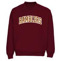 Loyola Chicago Ramblers Arch Name Pullover Windbreaker Jacket - Garnet