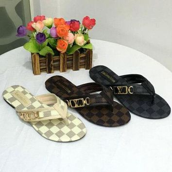Louis Vuitton Women Flats Sandals Shoes