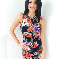 Miami Jersey Dress- Floral