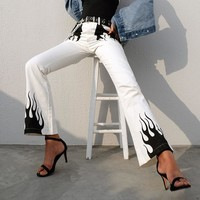 Flame Flare Pants