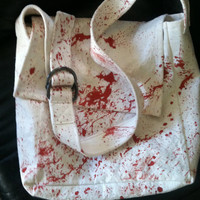 SOLD!!!     Custom Blood Splatter Purse    SOLD!!!