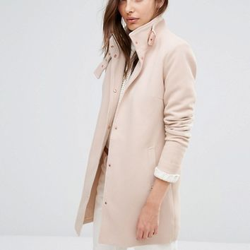 Vila Funnel Neck Coat at asos.com