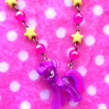 My Little Pony Twilight Sparkle Unicorn Necklace