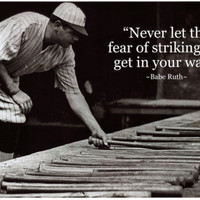 Babe Ruth Striking Out Famous Quote Archival Photo Poster Masterprint at AllPosters.com