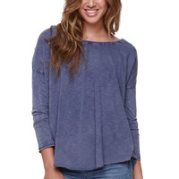 Billabong Setting Free Long Sleeve Top - Womens Tee - Blue -